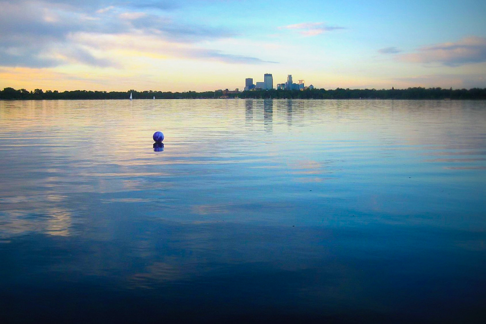 Lake Calhoun in the early morning - Photo by: Wendy Berry - CC (edited)