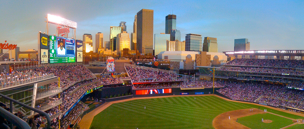 Target Field at sunset - Photo by: Chris Evans - CC