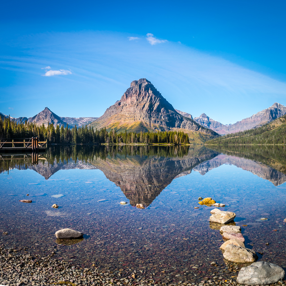 Square photo at Glacier National Park - Photo by Author