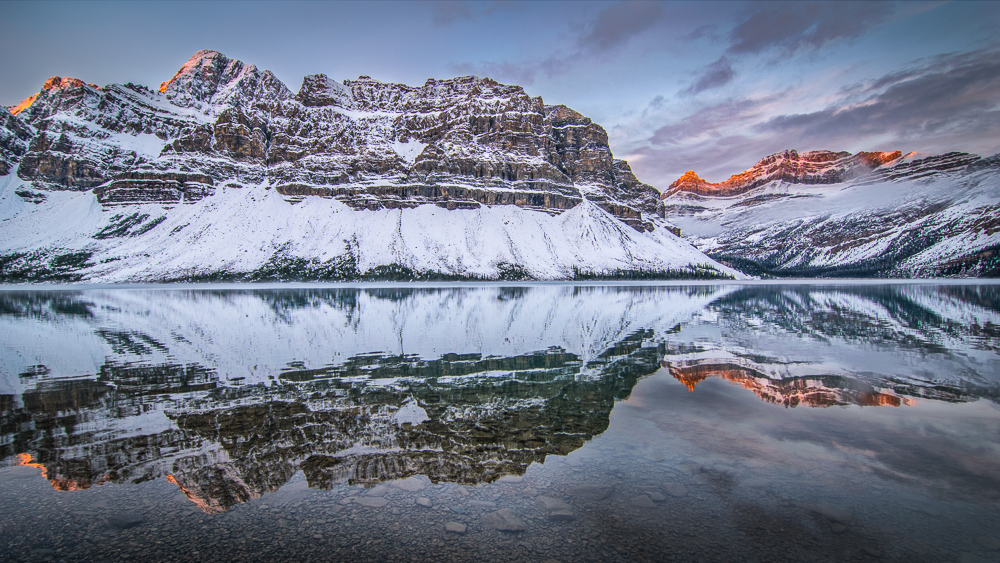 Orbitz-Canada-Photos that will make you wish you were Canadian-Early morning at Bow Lake-GettingStamped-1