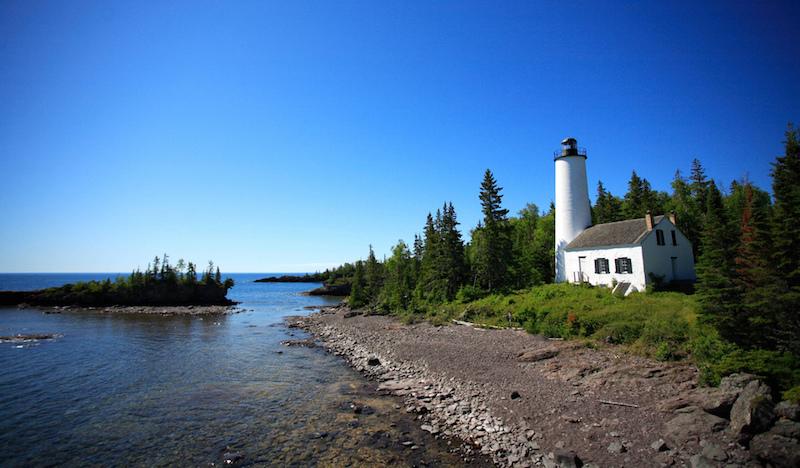 Rock Harbor Lighthouse at Isle Royale National Park