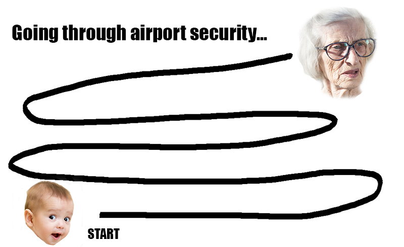 funny going through airport security