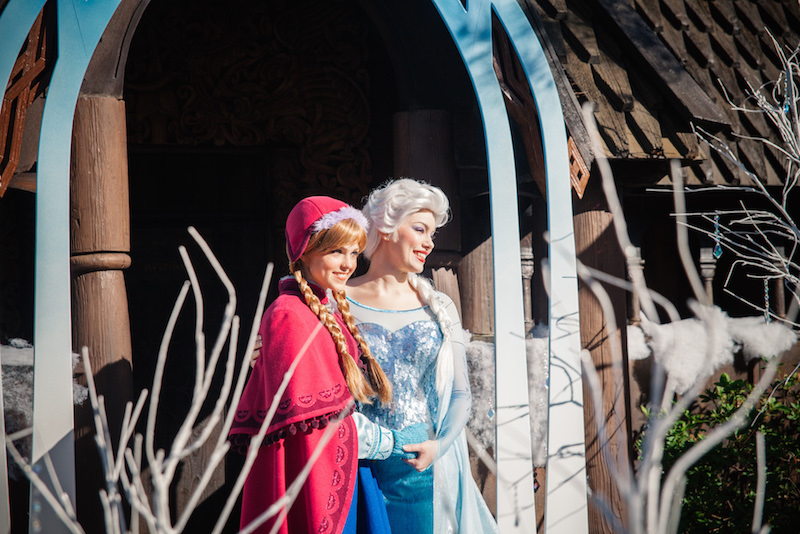 Frozen characters Princess Anna and Elsa