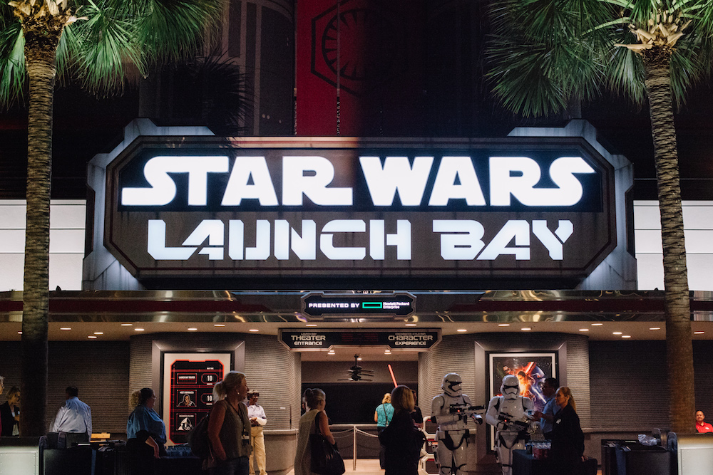 Go into the Launch Bay and explore the many replica movie props, meet characters, and watch a behind the scenes film.