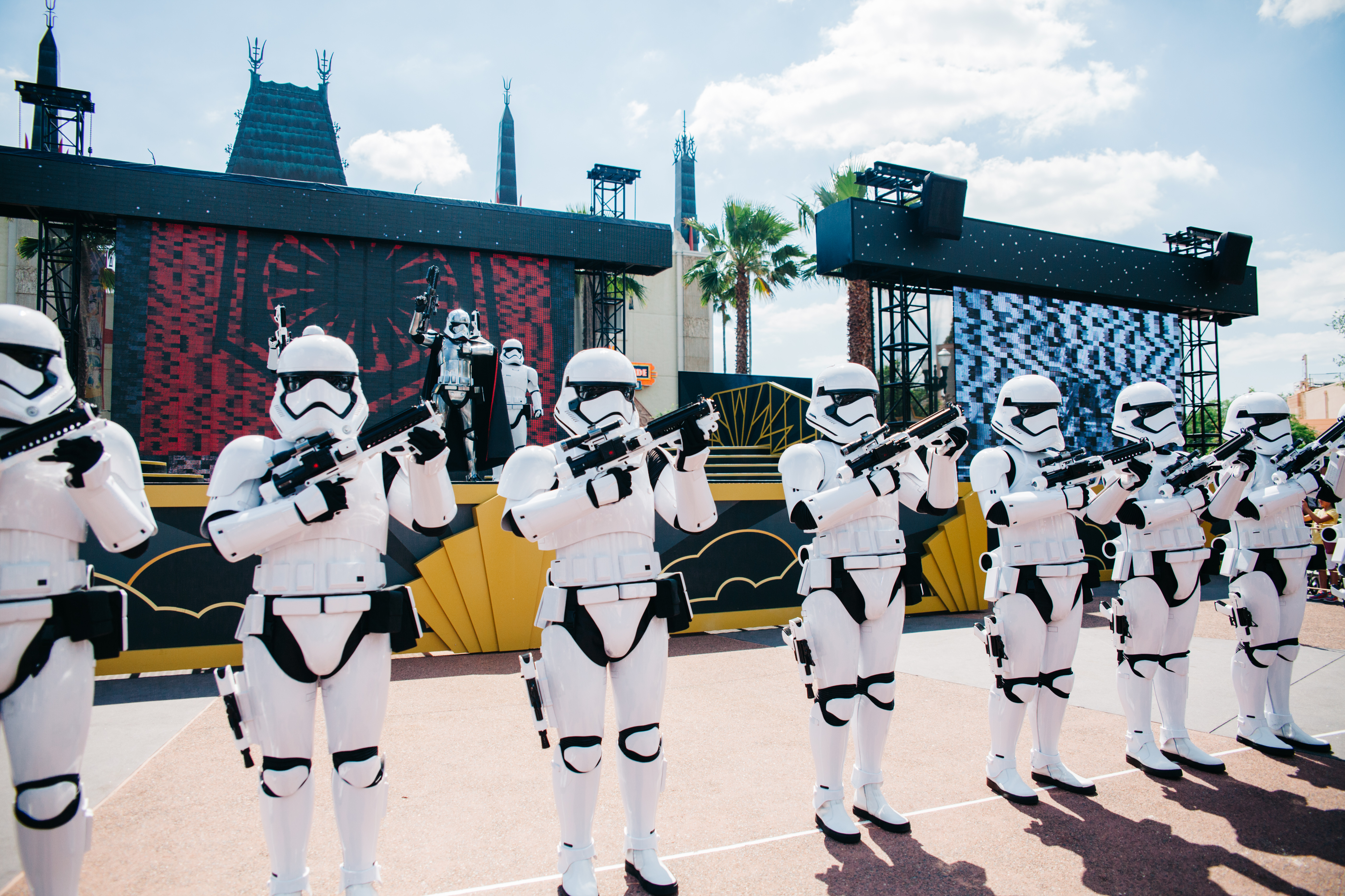 Watch Captain Phasma march onto the stage while her stormtroopers surround you...