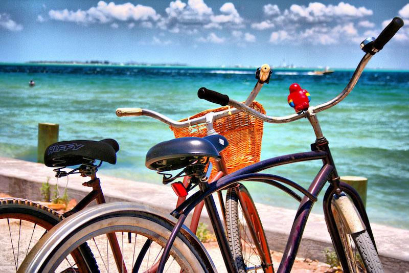 Ride bikes around Anna Maria Island