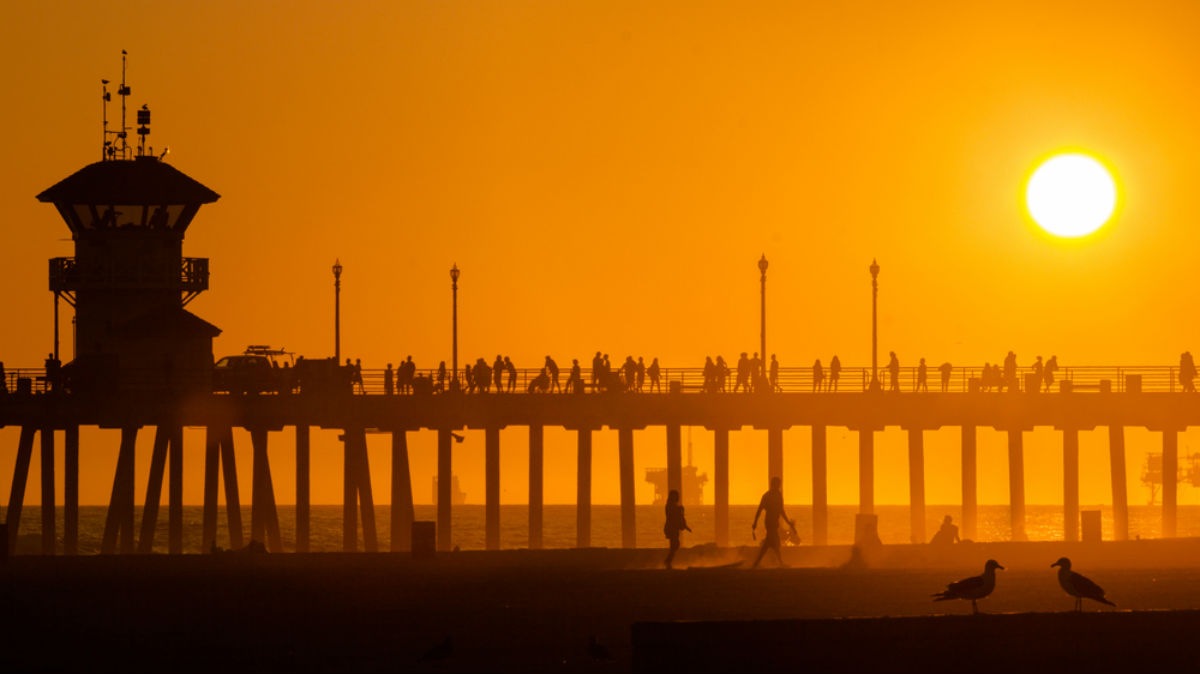Orange County, OC, sunset, Huntington Beach Pier