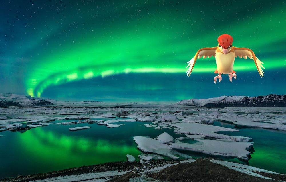 Glacier Lagoon Jokulsarlon Iceland-with pokemon