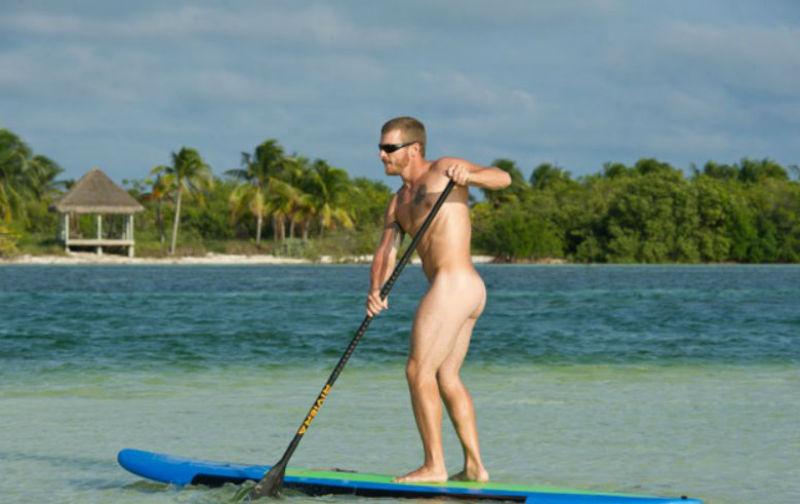 paddle boarding, Key West, Florida Keys, naturism, lgbt
