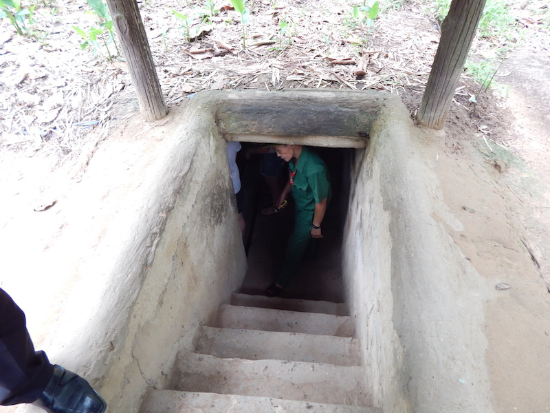 Vietnam Cu Chi Tunnel Entry