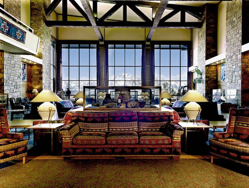 The lobby at Jackson Lake Lodge