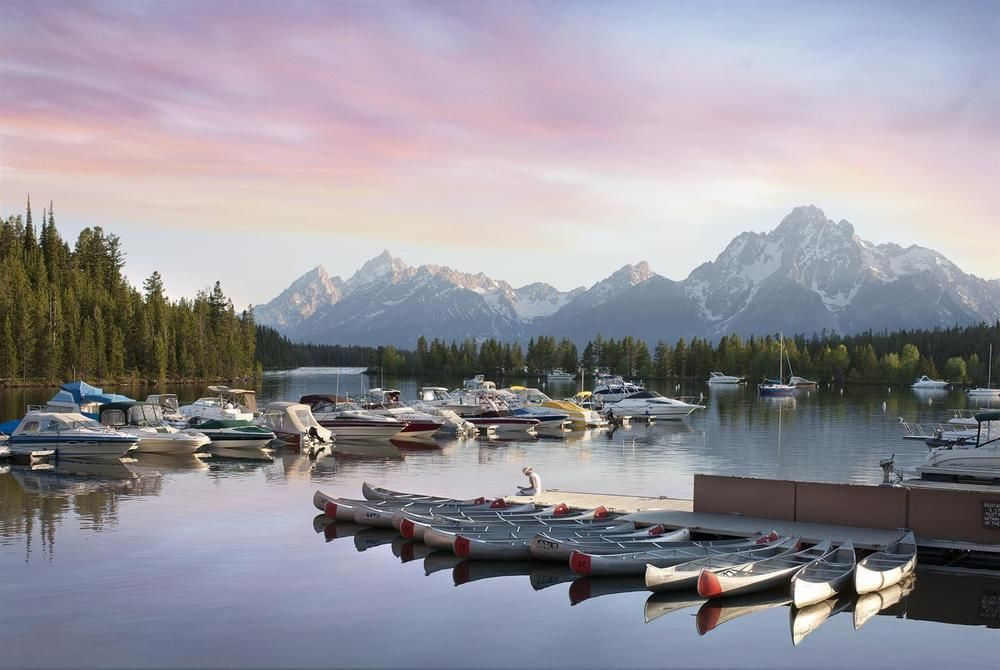 Jackson Lake Lodge-wyoming-docks