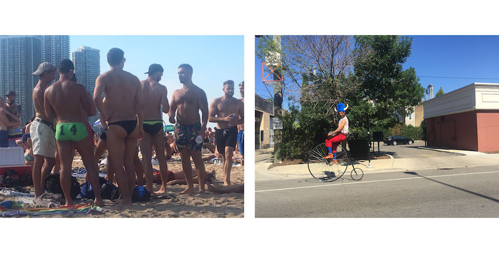 Left: Sights on North Avenue Beach | Right: Sights in Logan Square
