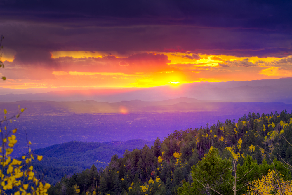santa fe-sunset
