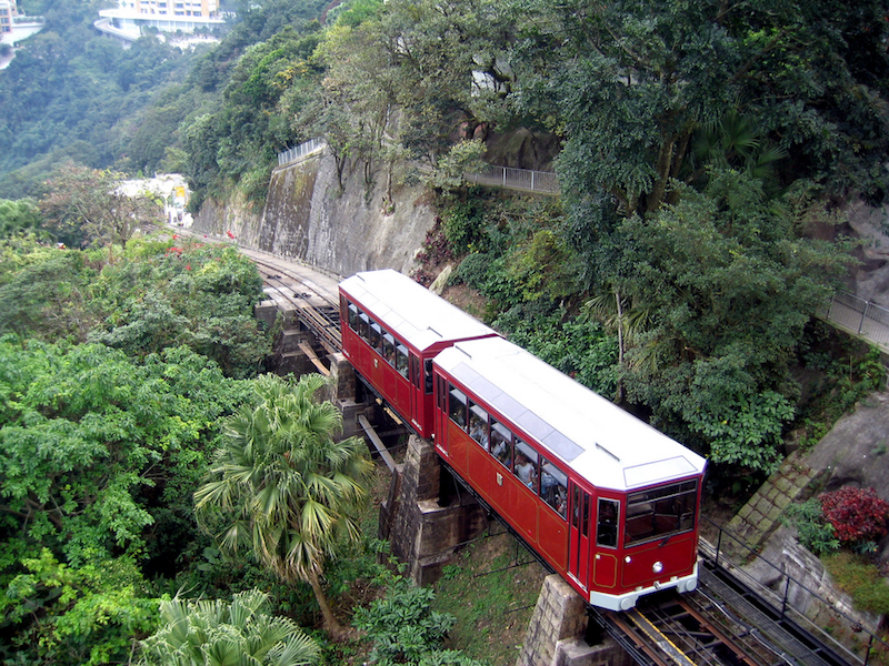 Peak Tramway in Hong Kong