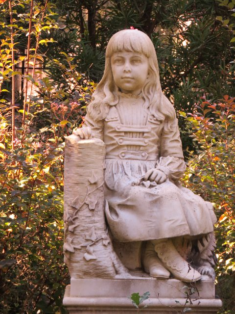 Little Gracie at the Bonaventure Cemetery