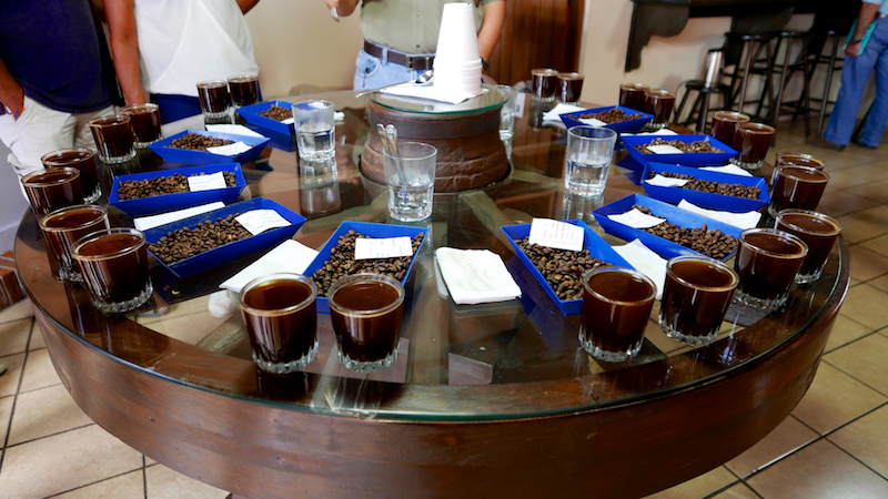 Coffee tasting in Antigua, Guatemala