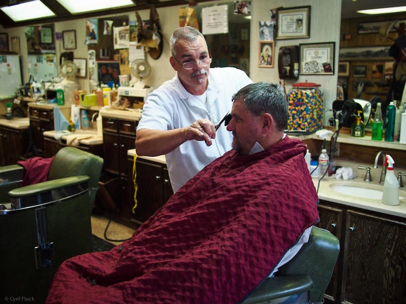 Leon from Shepard's Barber Shop. Conroe, Texas