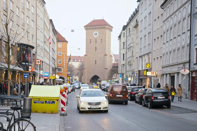 Munich Mercedes taxi