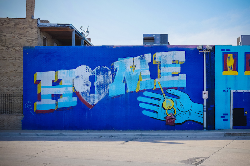 Mural in the Logan Square neighborhood