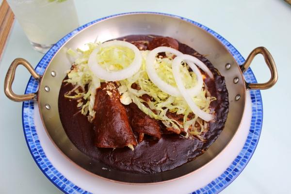 Mole enchiladas at Azul Condesa