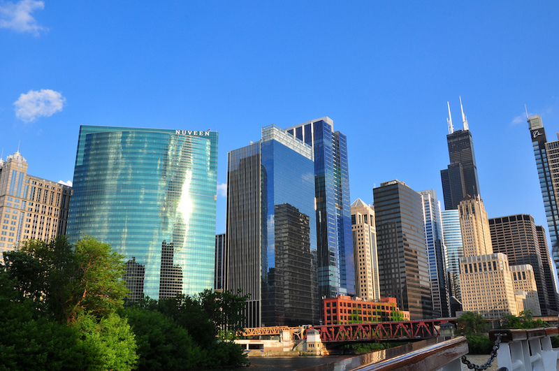 View from taking a Chicago Architectural Boat Tour