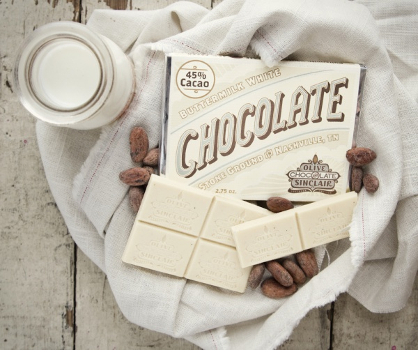 The Buttermilk White Chocolate Bar is our idea of Southern comfort. Credit Olive & Sinclair Chocolate Co.
