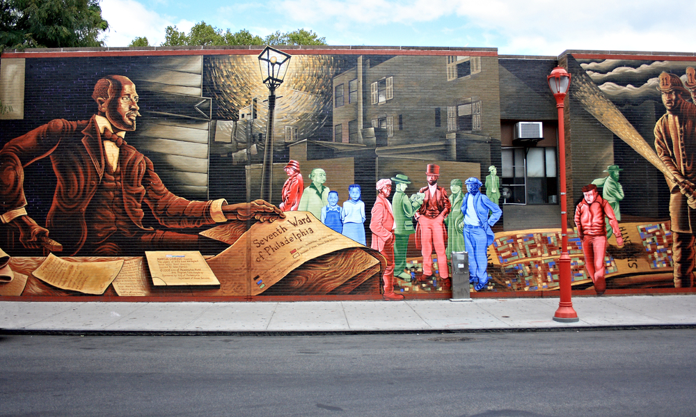 Murals decorate the streets of Philadelphia