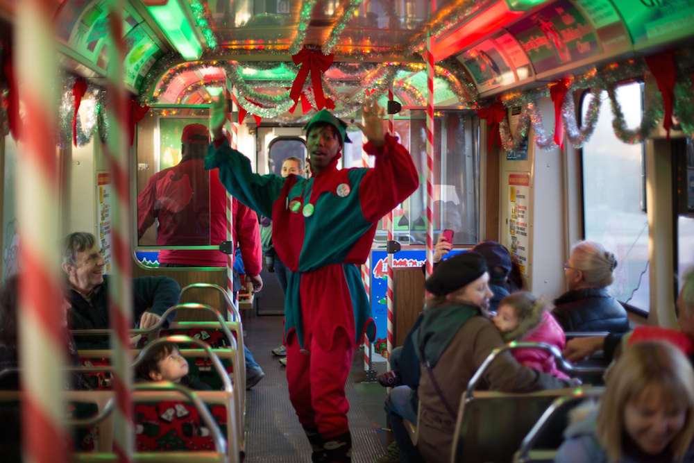 Look out for elves on the El. Credit Ocean Yamaha/Flickr Creative Commons.