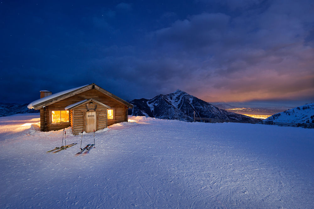 Skiing under the moonlight | Photo courtesy of Sundance Resort