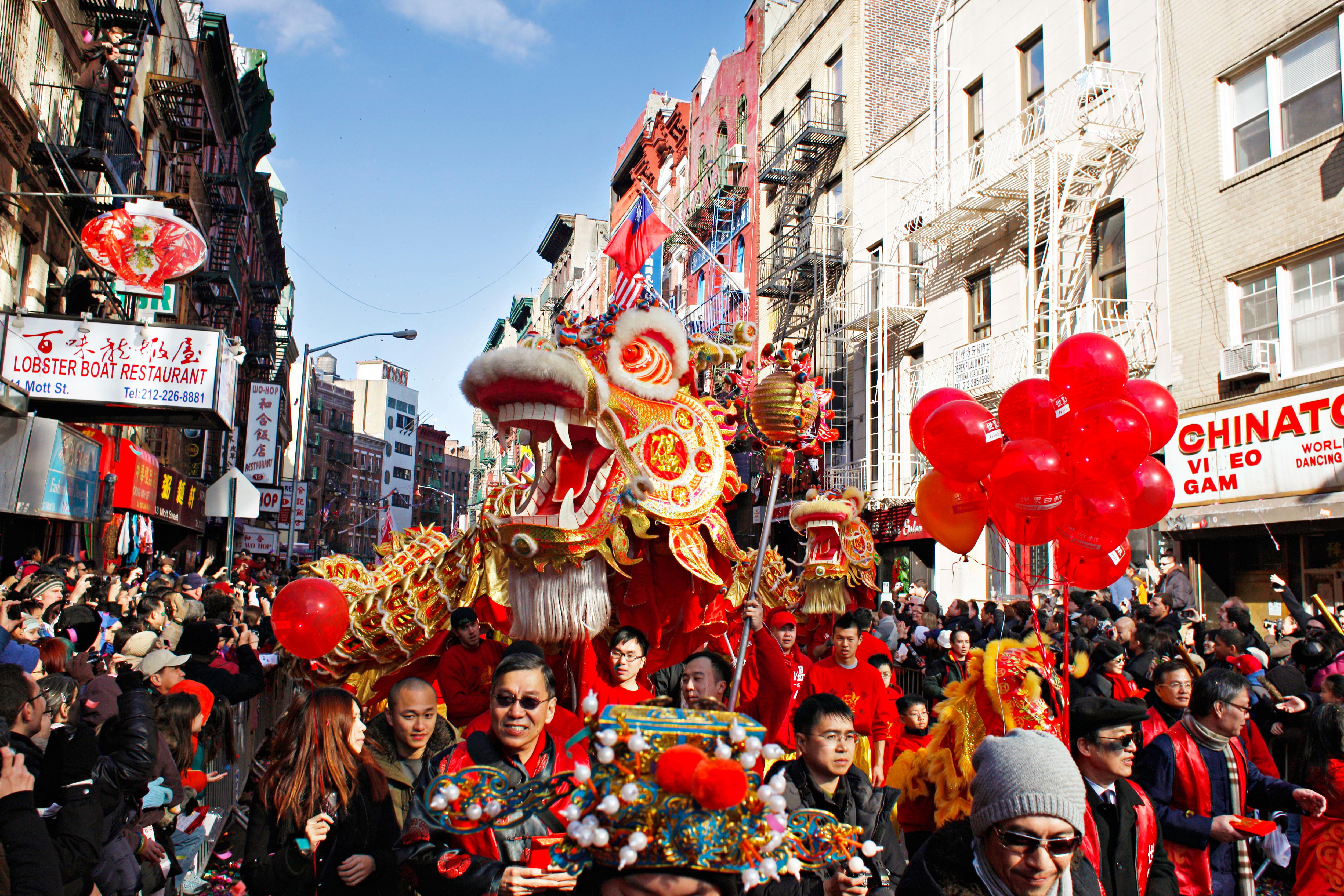 Lunar New Year Parade, Chinatown, Manhattan Credit: NYC & Company
