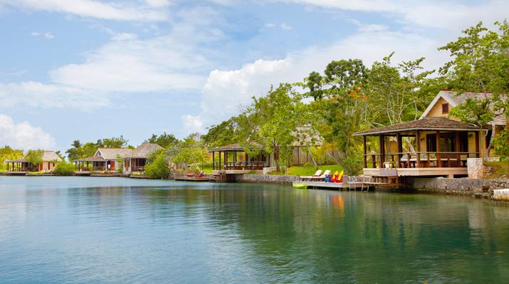 Golden Eye lagoon cottages, courtesy of Golden Eye