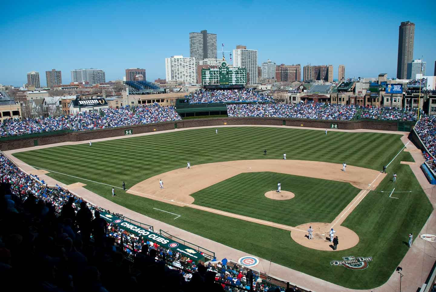 Best Old School Baseball Stadiums-Wrigley Field-Flickr