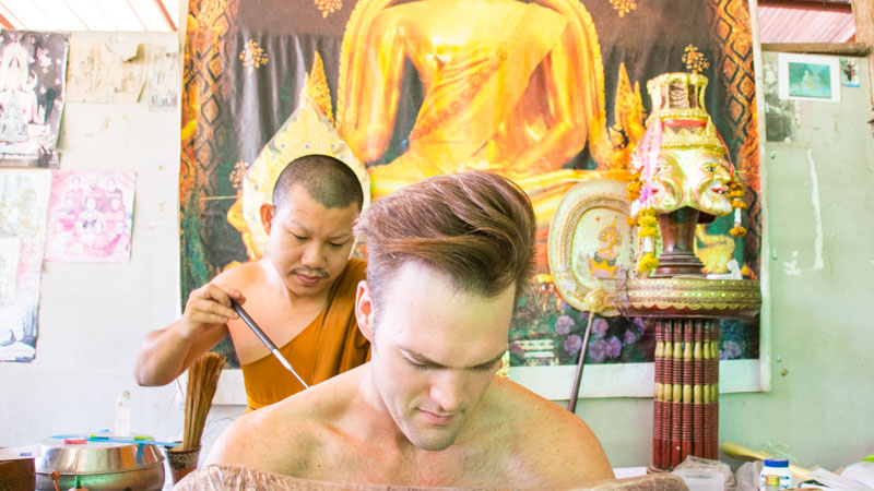 Sak Yant Tattoo in Chiang Mai Thailand - Photo by GettingStamped.com