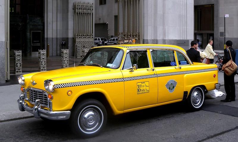 An old Checker Taxi New York