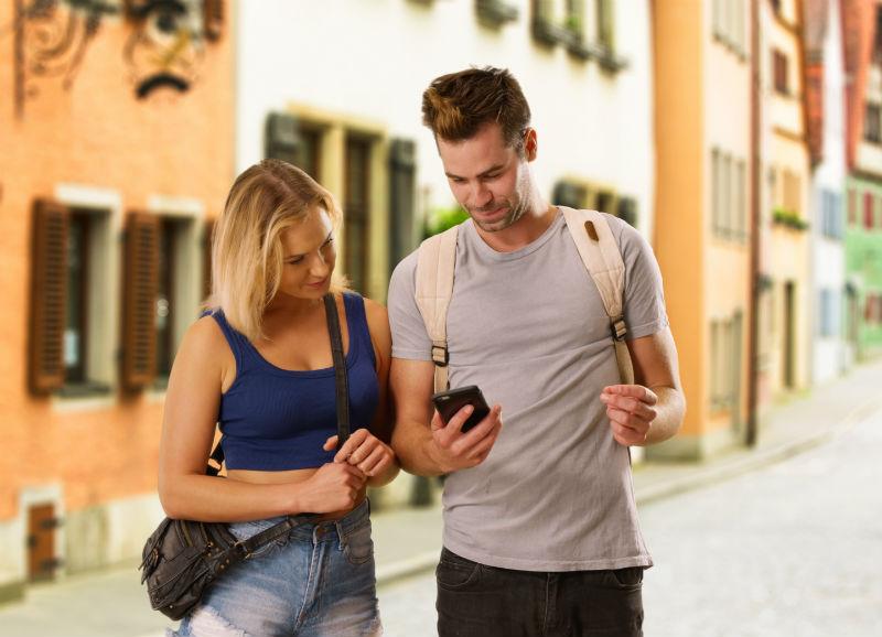 millennials, travel, couple