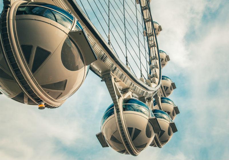 high roller, observation wheel, las vegas, nevada, gaming