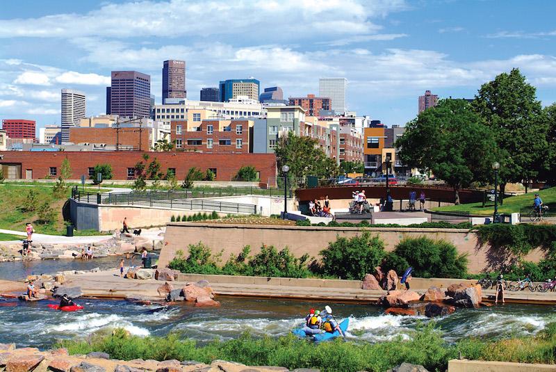 Confluence Park, Denver. Photo from Visit Denver