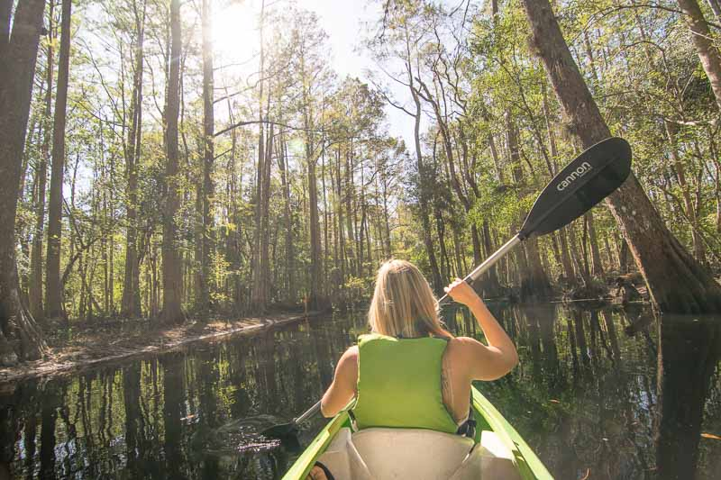 Kayaking - Things to do in Kissimmee other than the theme parks - GettingStamped