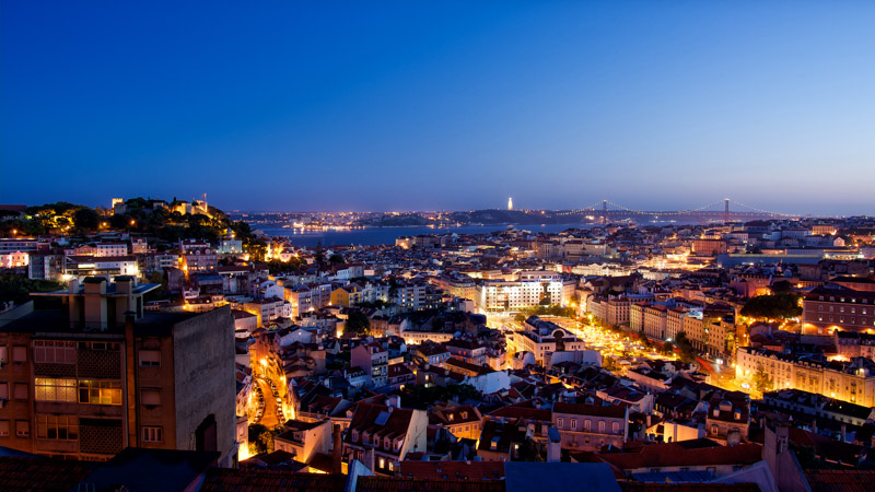 Lisbon at night - go here not there European destinations