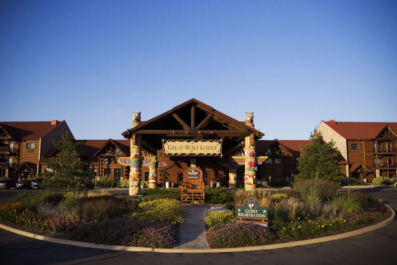 Entrance of the Great Wolf Lodge