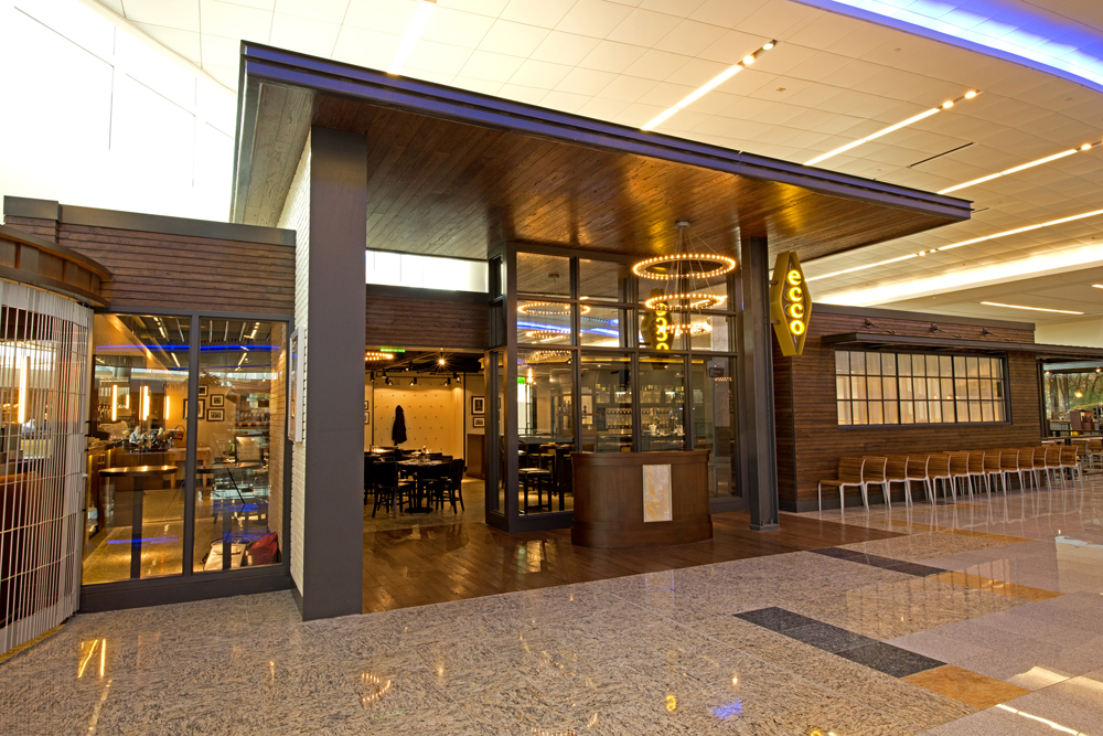 Midtown Atlanta's award-winning ECCO restaurant is now located in the mezzanine of International Terminal Concourse F