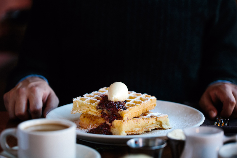 Belgian Waffle for brunch at Publican in Chicago