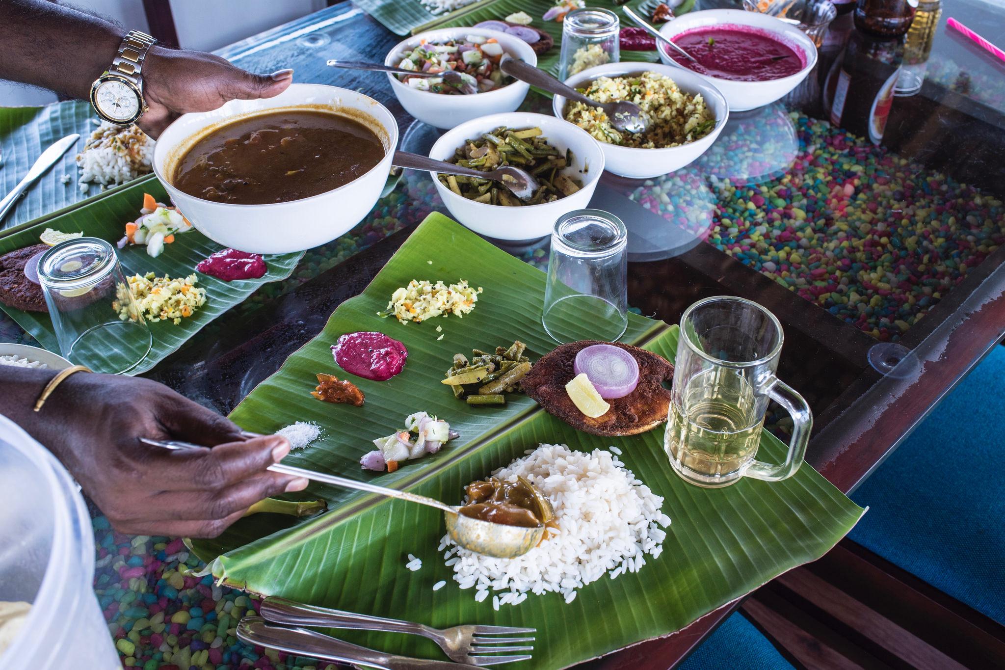 Dining on Kerala houseboat