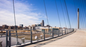 Downtown Omaha from the pedestrian bridge