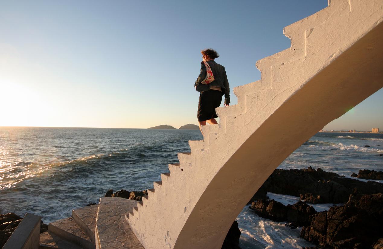 Set of stairs on the Mazatlan coast.