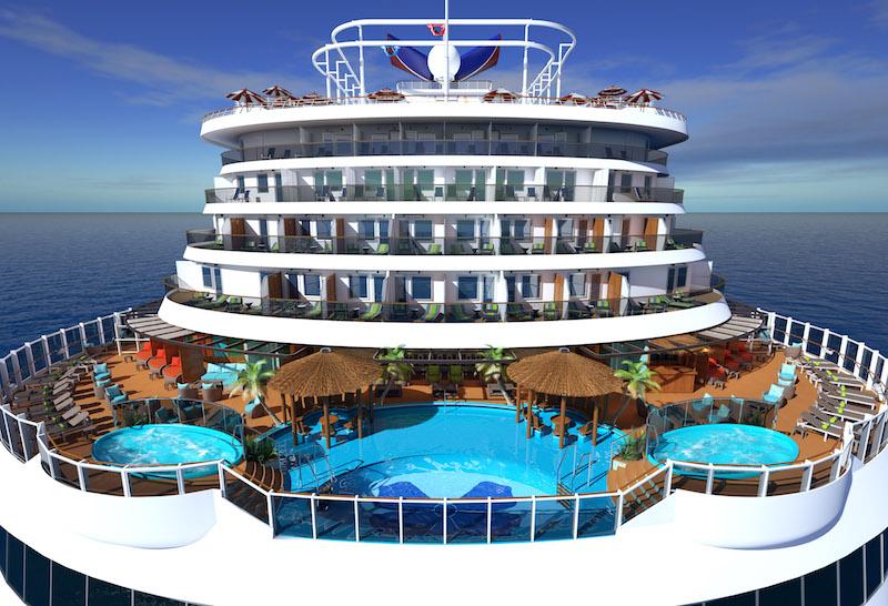Carnival Horizon Digital Rendering, pool