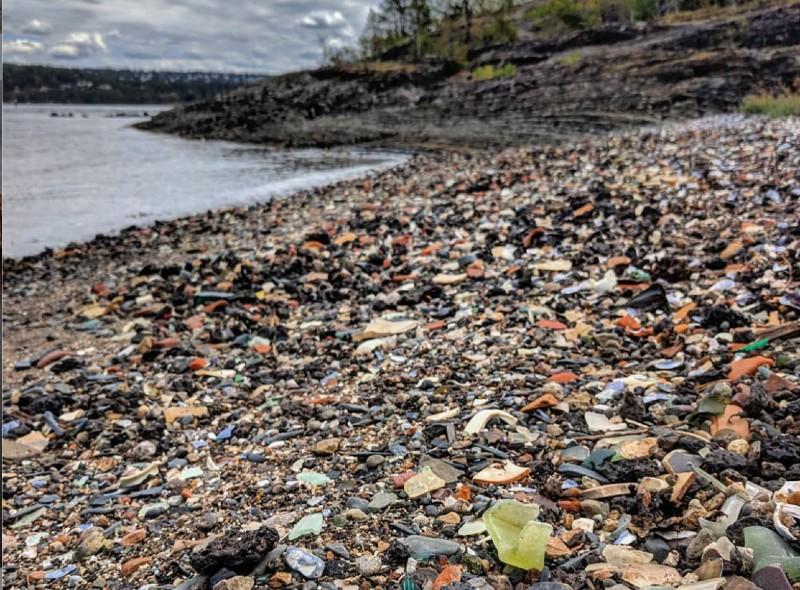 Norway, glass beach