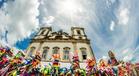 Bonfim Church at Salvador de Bahia, Brazil
