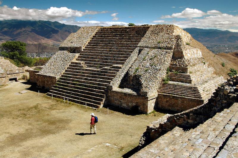 Mayan temple, Monte Alban, Oaxaca, Mexico